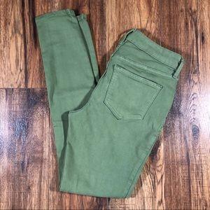 Old Navy Rockstar Super Skinny olive jeans size 2